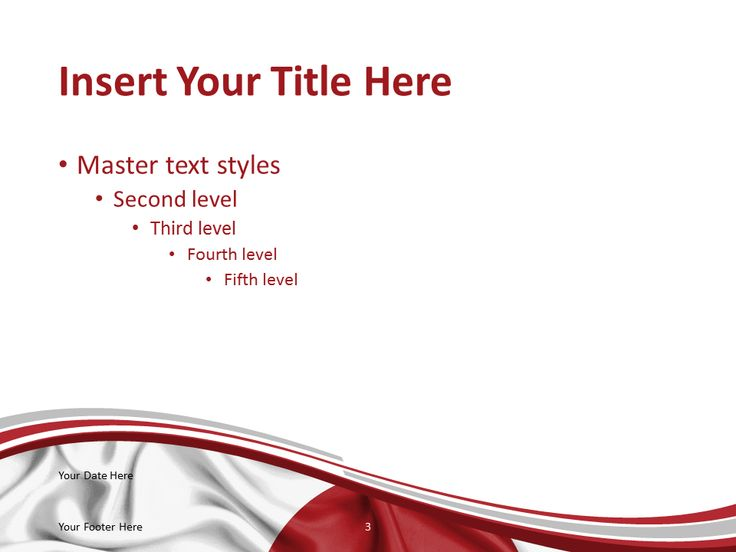 Free Powerpoint Template With Flag Of The Japan Background Title And Content Slide Powerpoint Template Free Japan Flag Powerpoint Templates