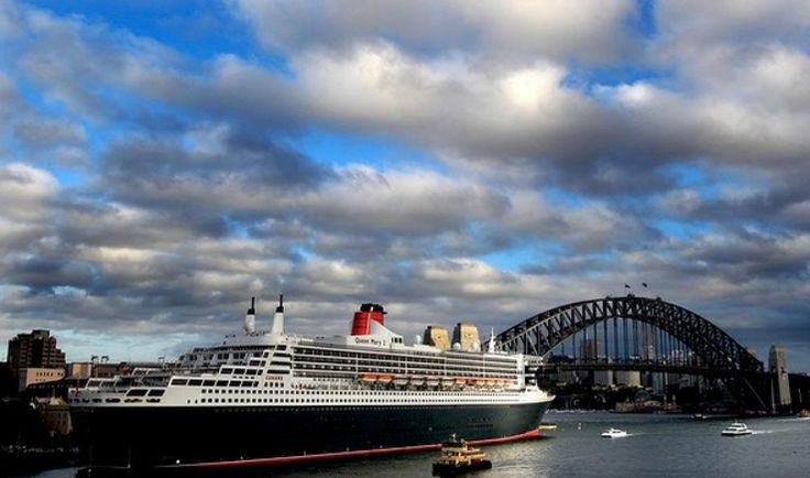 #QueenMary2 docked in Sydney Harbour