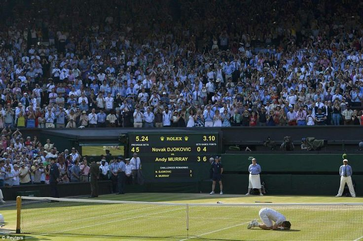 This is what happened when a boy from an unlikely tennis destination of Dunblane, Scotland ended a 77 year old British wait for a Men's Singles Title . This is what dreams are made of.