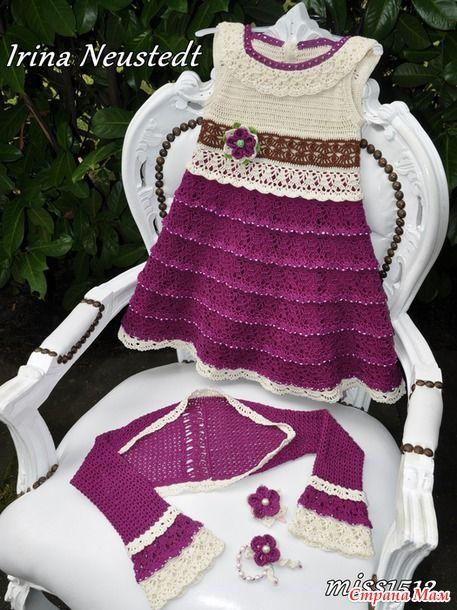 Вязание-это то что приносит удовольствие!  : Платьице от Ирины