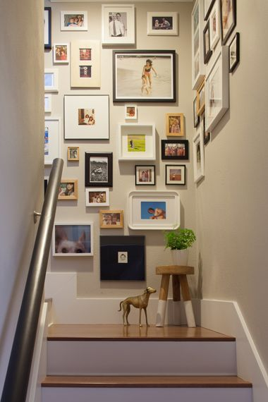 Design Styling Stairwell Gallery Wall Photos