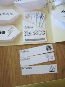 free greek mythology lap book need to make or have campers make. Their study guide.