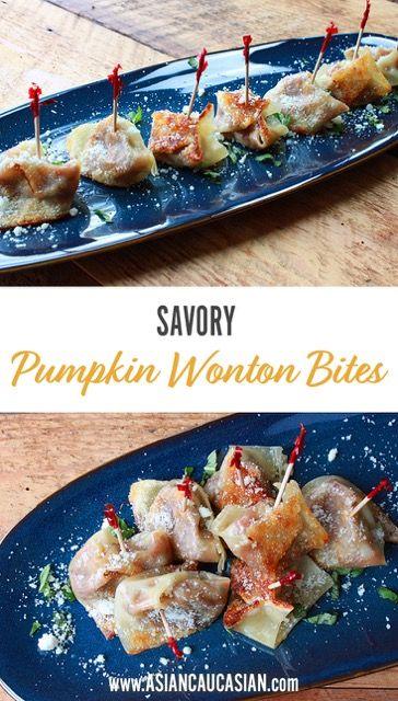 Savory Pumpkin Wonton Bites