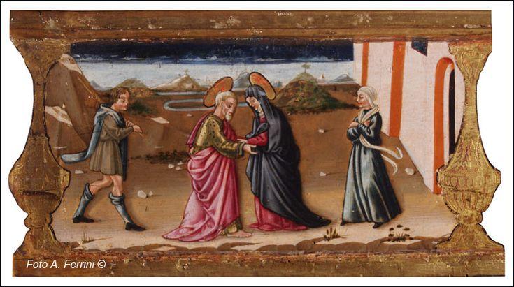Neri di Bicci - Incoronazione della Vergine (Verna), dettaglio Predella con Storie della Vergine - 1472-1475 - Museo della Verna (detta sala pinacoteca), Arezzo