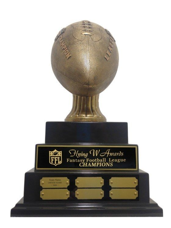 3 TIER LARGE EMBOSSED FANTASY FOOTBALL PERPETUAL TROPHY AWESOME NEW DESIGN! #Unbranded
