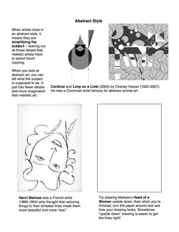 Art Handouts And Worksheets : Best right side of the brain images on pinterest art