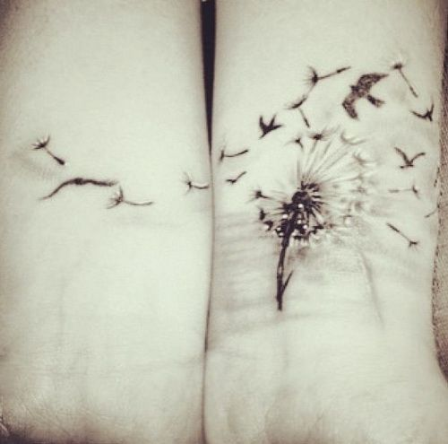 Wrist Tattoos - Cute Dandelion Tattoo on Wrist