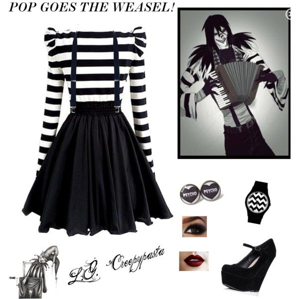 Laughing Jack Creepypasta Inspired Outfit by ashleigh-mcvay on Polyvore featuring Dabuwawa and May28th