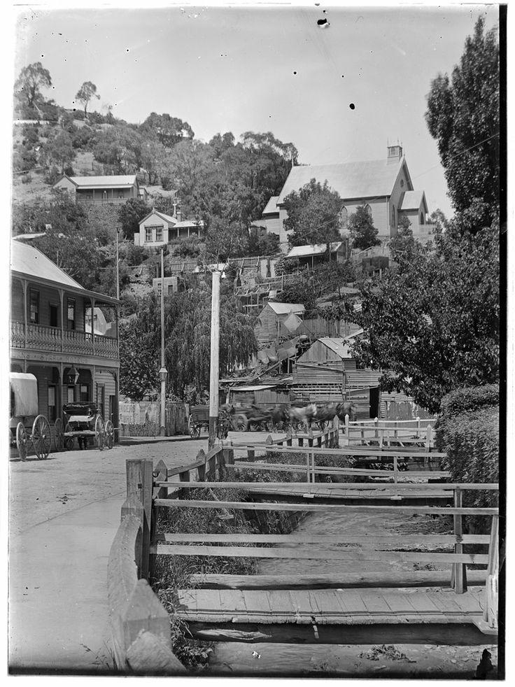 Town in hills, Walhalla, Victoria (1) Michael J Drew, photographer Circa 1900