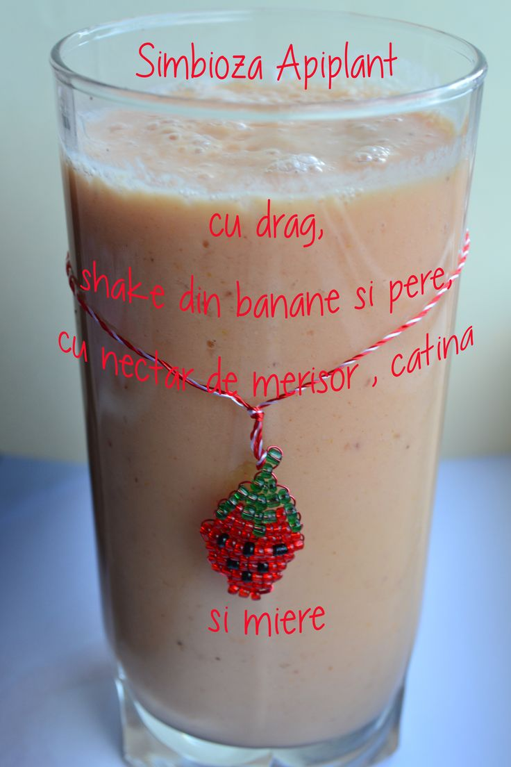 Un alt mic dejun plin cu vitamine, pere, banane, iaurt si nectar proaspat de merisor, catina si miere, de la Simbioza Apiplant