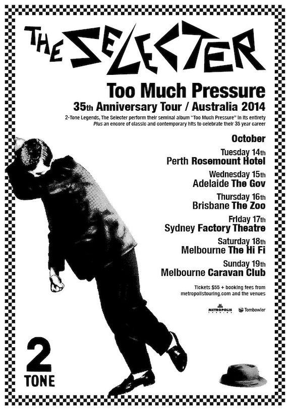 The Selecter Australian Tour Poster 2014.