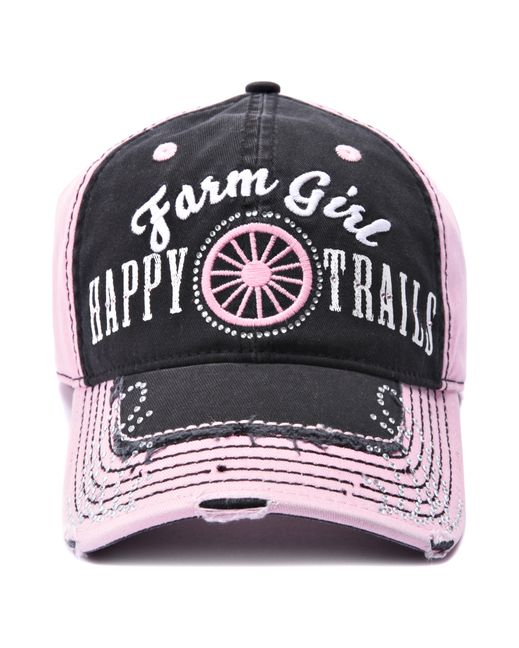 Farm Boy & Farm Girl Women's Farm Girl Happy Trails Cap  http://www.countryoutfitter.com/products/57193-womens-farm-girl-happy-trails-cap?lhs=u_p_p_n_a&lhb=MP&lhc=womens_apparel&lhg=farm_boy_and_farm_girl_happy_trails&utm_source=pinterest&utm_medium=social