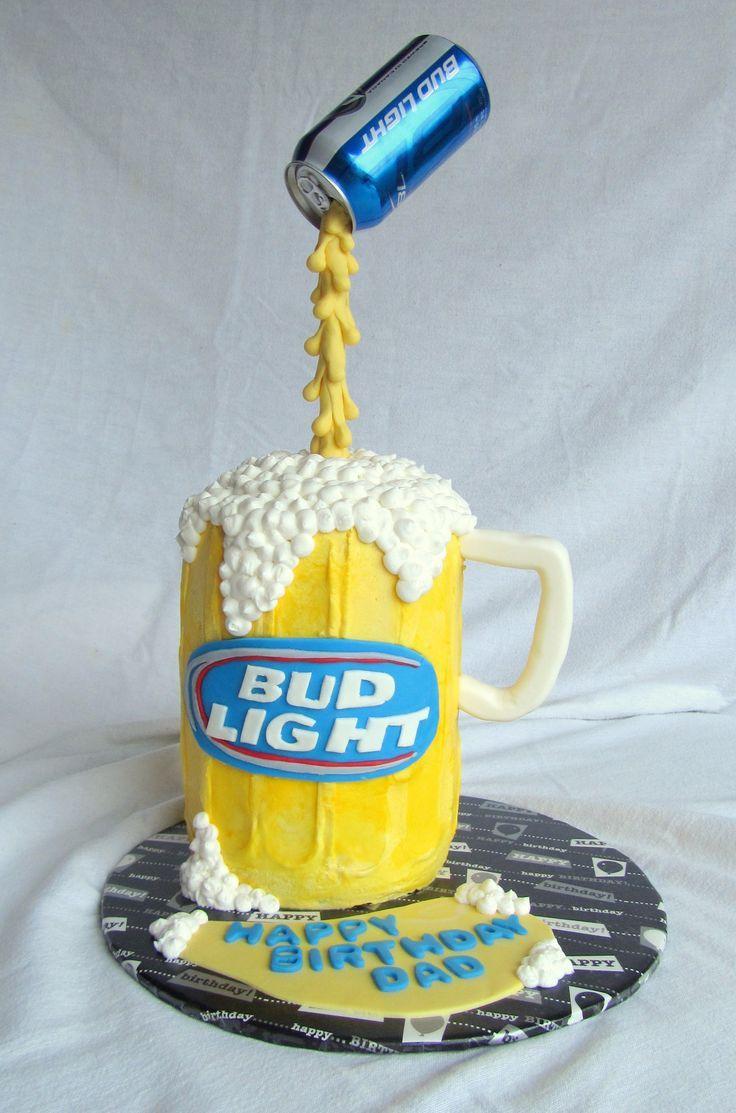 Las 25 Mejores Ideas Sobre Pastel De Bud Light En Tortas De Cerveza 30 A 241 Os Y Beer Can Cakes Beer Cake Cake In A Can
