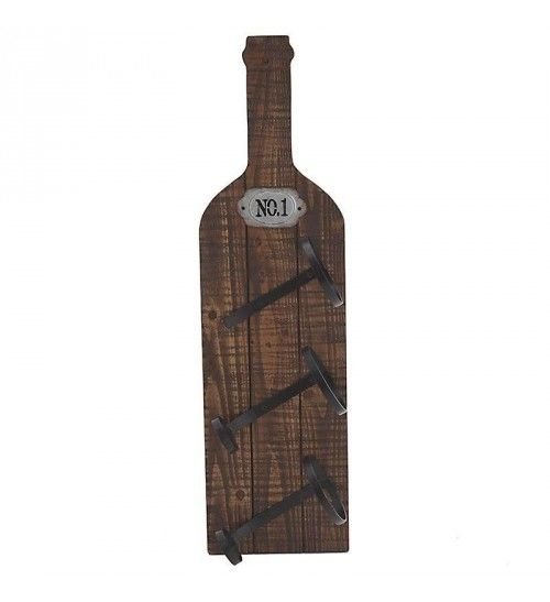 WOODEN WALL BOTTLE HOLDER W_3 SECTIONS 3013Χ71