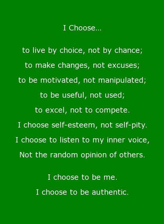 I choose to defy those who want to change me on the inside, because they don't even have the slightest clue about me.