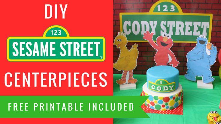 How to make Sesame street Elmo big bird cookie monster centerpieces