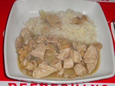Frango no tacho com arroz