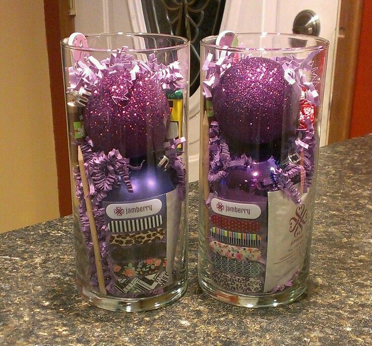 Booking gifts ready for my holiday in home party on Sunday! Containers, ornaments and stuffing from the dollar store! www.jamonwithstacy.jamberrynails.net