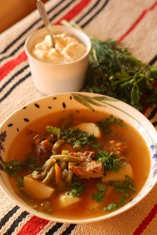 Хын - суп из стручковой фасоли.