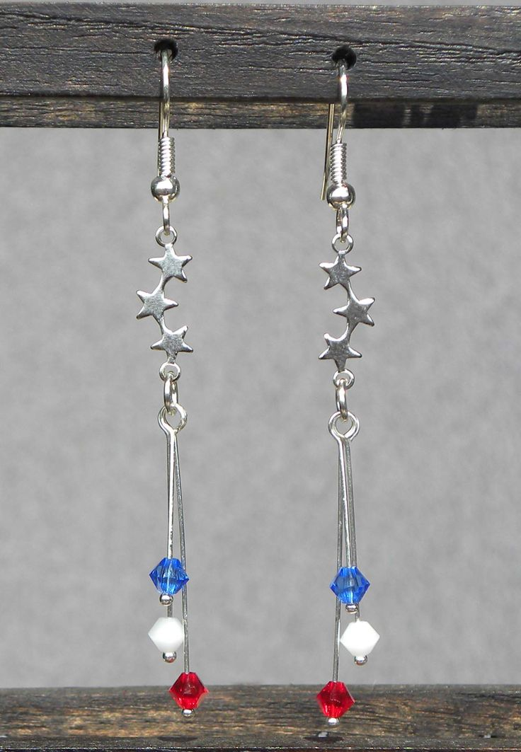4th of July Earrings ~ Quick DIY