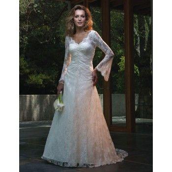 Vintage Long Sleeve Lace Wedding Dresses