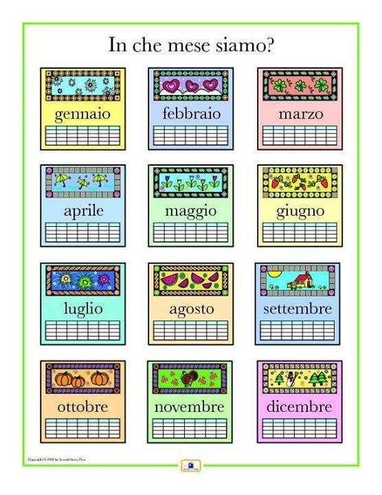 ~i mesi~ the months