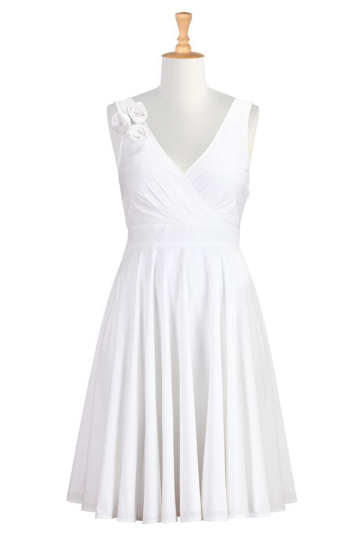 Say i do still in the white cotton taylor dress for Wedding vow renewal dresses plus size