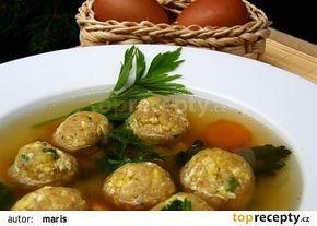 Knedlíčky do polévky z míchaných vajíček recept - TopRecepty.cz