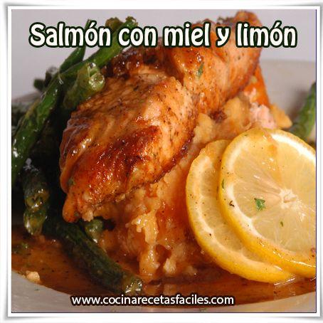 Salmón con miel y limón