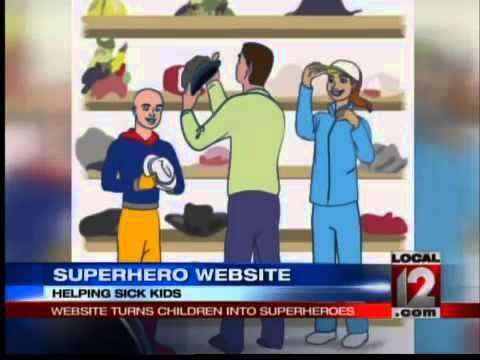 Angela Ingram with Cincinnati Local 12 News did a great job on this interview for Help Your Hero. It started right at 11:11p.m. the night it first aired :)  Website Turns Sick Children into Superheroes