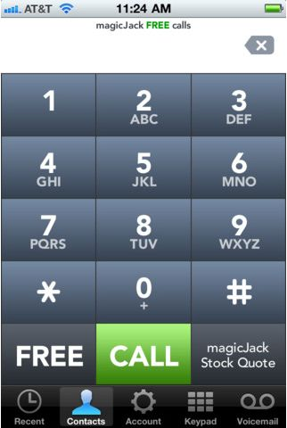 how to delete magicjack app call history