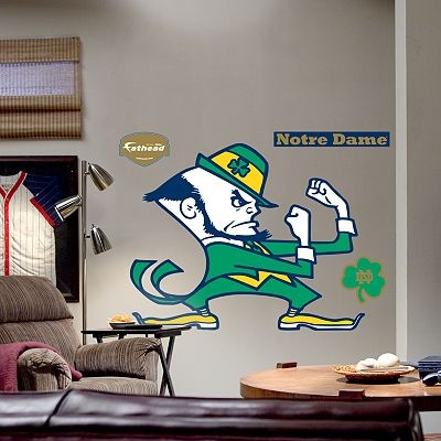 Fathead University Of Notre Dame Fighting Irish Logo Wall Decal