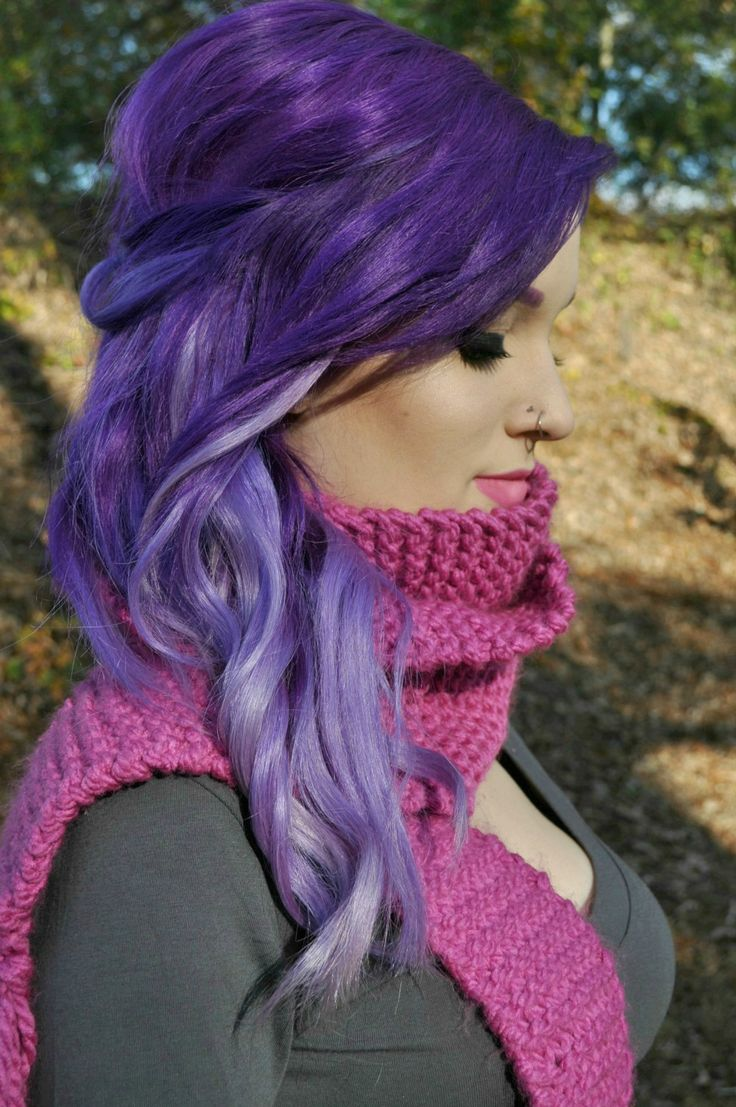 Beautiful purple ombré hair, but the color is photoshopped! #amateurgraphicdesignereye #soobvious