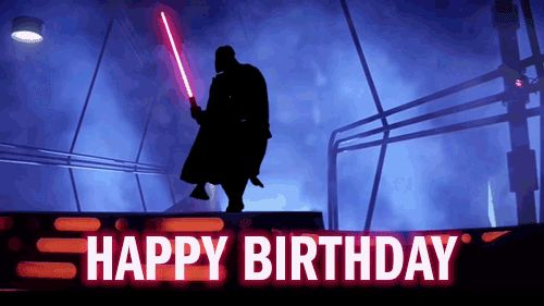 funny star wars happy birthday gif