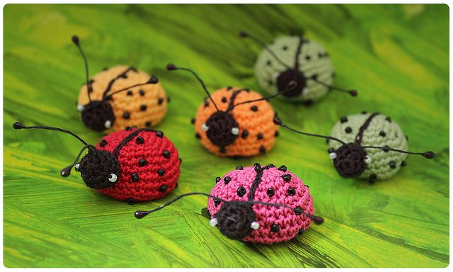 Crochet ladybirds