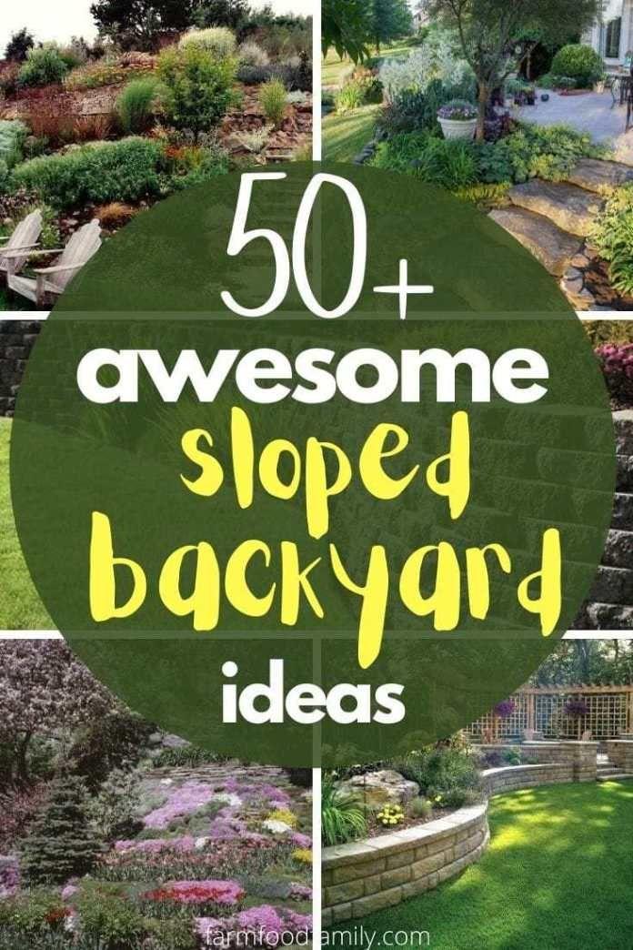 50+ Best Sloped Backyard Landscaping Ideas & Designs On A ... on Small Sloped Backyard Ideas On A Budget id=14647
