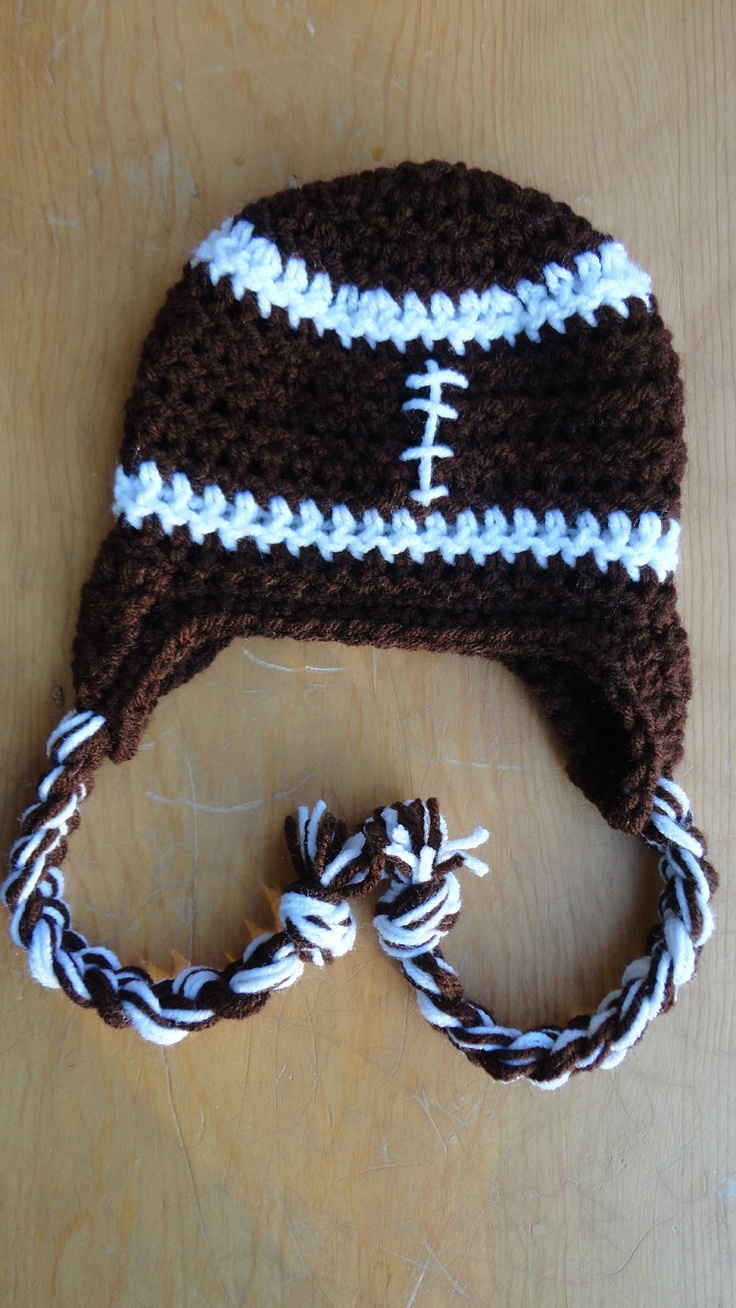 Soft Shells Baby Earflap Hat Crochet Pattern : 1000+ images about Baby Sports on Pinterest Beanie ...