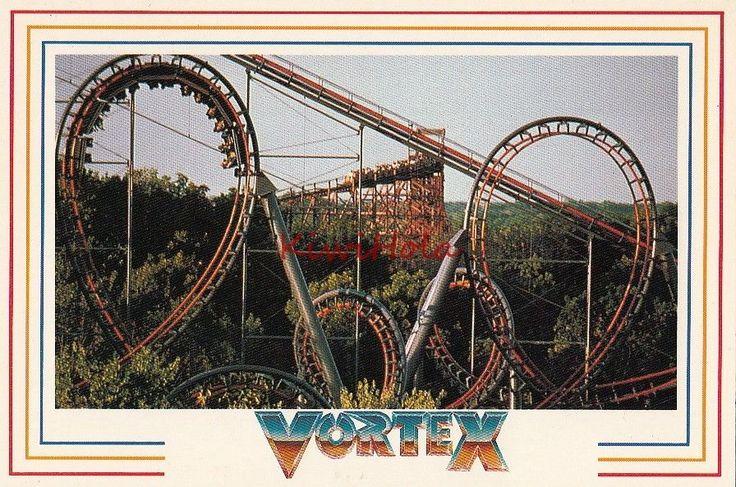 Postcard Roller Coaster The Vortex Kings Island OH Ohio | eBay