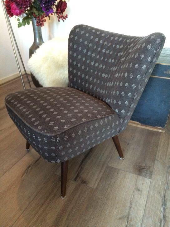 Retro Cocktail stoel jaren '50 vintage fauteuil