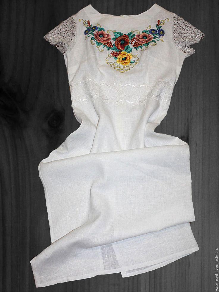Купить Вышитое платье Элегантный Современный Фольклорный стиль - элегантное платье, платье карандаш