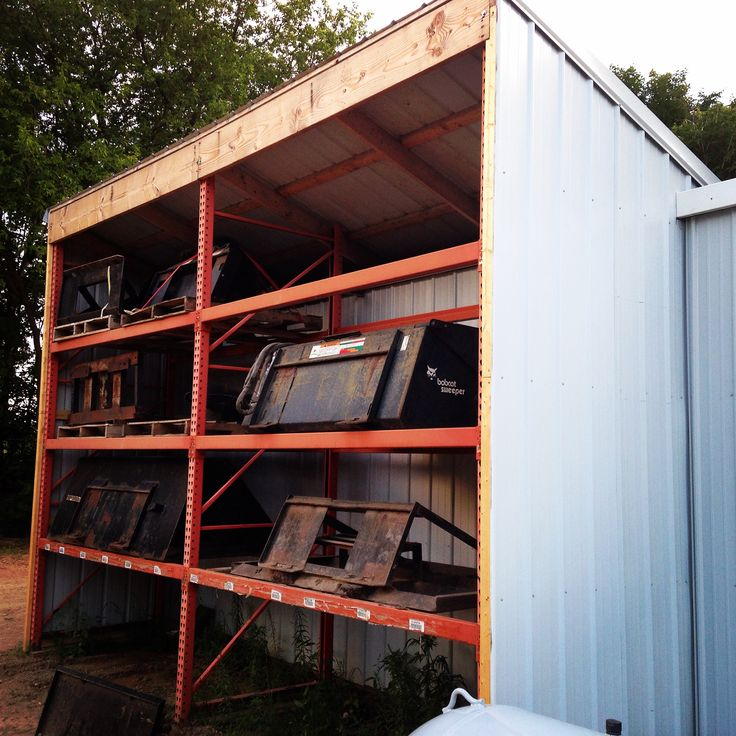 used pallet rack on the farm  looking to maximize space and clean up your shed  try used pallet