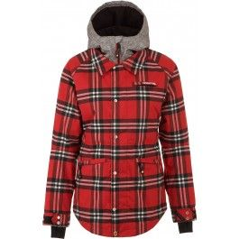 Nomis Lumber Janet Womens Snowboard Jacket - Red Plaid #GetEternalGear