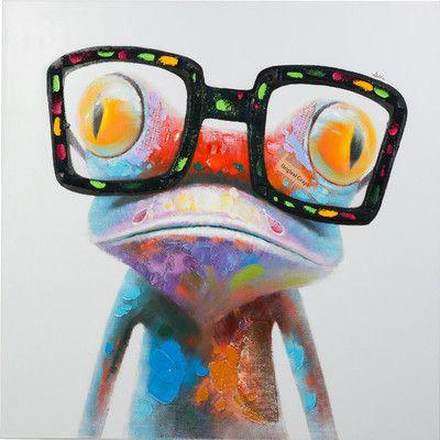 Y Decor Amazing Gecko Original Painting on Canvas