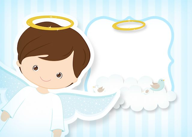 Novo kit festa infantil Batizado Azul Claro com muitos personalizados gratuitos, moldes, convites e rótulos para você baixar de graça