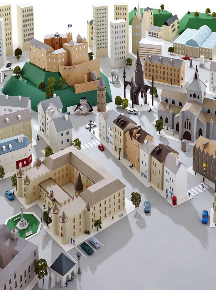 Hattie Newman - Paper city inspired by Edinburgh