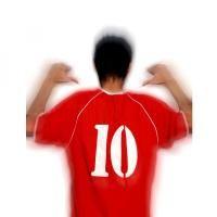 Diez #vinilo #textil, 100% #poliuretano. Personalización de camiseta mediante prensa de calor.