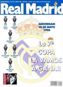 EC 1 Final 1998 Real Madrid - Juventus Torino in Amsterdam