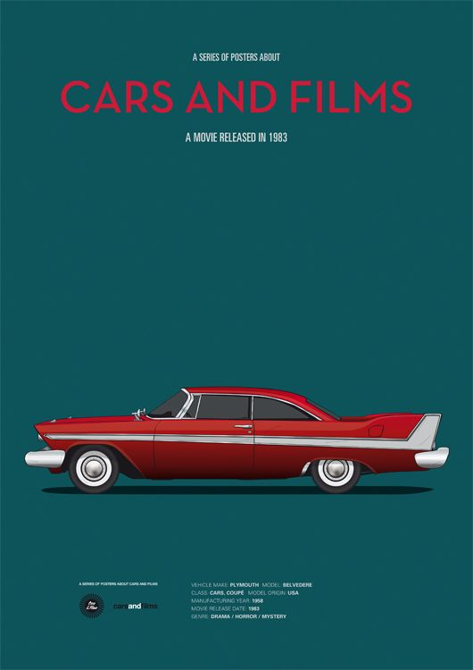 Cartel Christine. CarsAndFilms by Jesús Prudencio