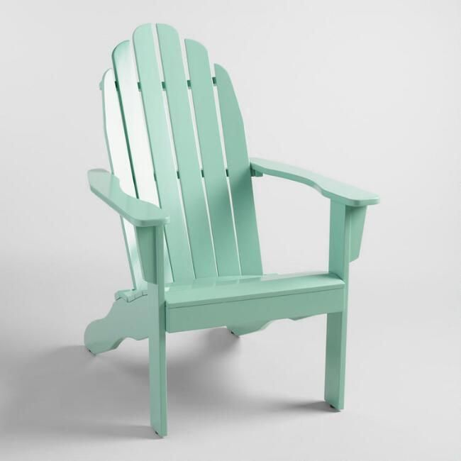 Jadeite Wood Adirondack Outdoor Chair World Market
