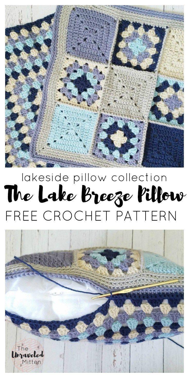 The Lakeside Pillow Collection   Lake Breeze Pillow   Free Crochet ...